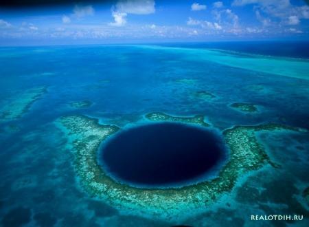 Огромная голубая дыра в Белизе