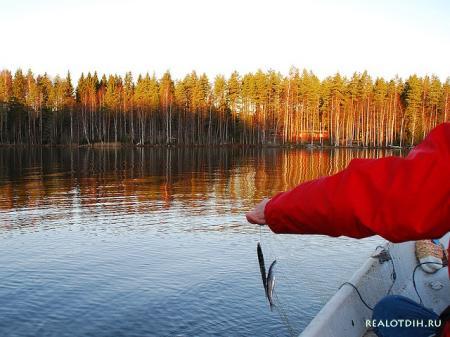 Осенняя рыбалка на озерах Финляндии